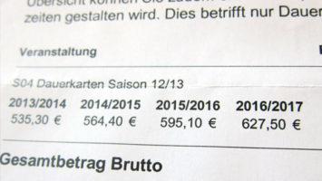 Schalke Kartenpreise